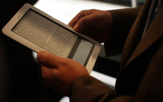 Spencer Platt/Getty Images O Nook, da Barnes and Noble, concorrente do Kindle da Amazon