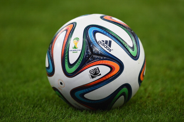 RIO DE JANEIRO, BRAZIL - JUNE 18:  A close-up of the Brazuca match ball during the 2014 FIFA World Cup Brazil Group B match between Spain and Chile at Maracana on June 18, 2014 in Rio de Janeiro, Brazil.  (Photo by Matthias Hangst/Getty Images)