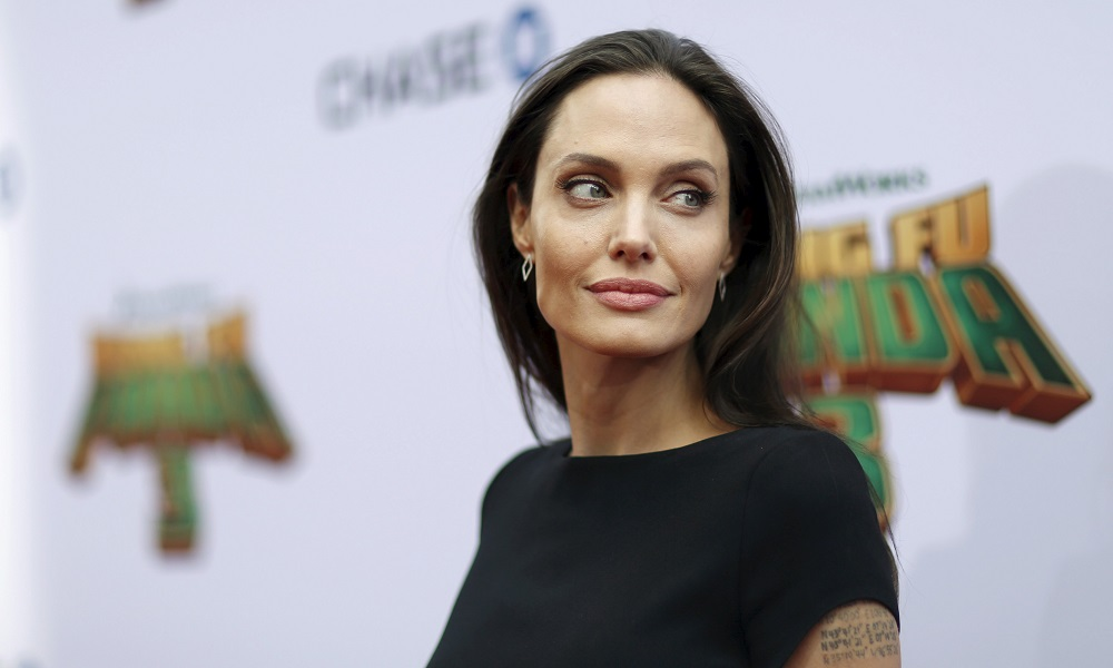 "Cast member Angelina Jolie poses at the premiere of ""Kung Fu Panda 3"" at the TCL Chinese theatre in Hollywood, California January 16, 2016. The movie opens in the U.S. on January 29.  REUTERS/Mario Anzuoni - RTX22PDS"