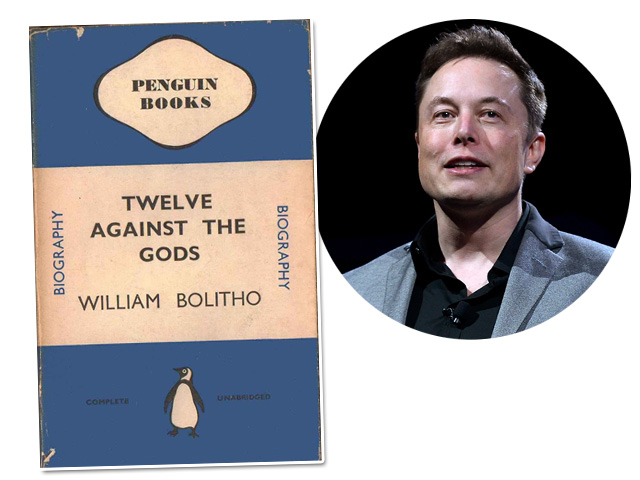 """Twelve Against the Gods"", de William Bolitho, é o livro de cabeceira de Elon Musk Créditos: Getty Images"