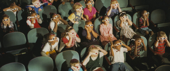 Children at a 3-D Movie