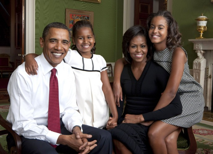 Registro da família Obama em setembro de 2009, no ano da posse de Barack | Official White House Photo