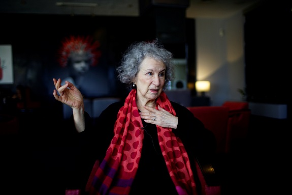 Canadian writer Margaret Atwood speaks during an interview at a hotel in Havana, Cuba, February 8, 2017. Picture taken on February 8, 2017. REUTERS/Alexandre Meneghini
