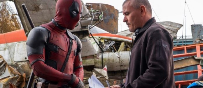 Tim Miller no set de Deadpool